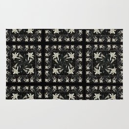 White Lily Patchwork Rug