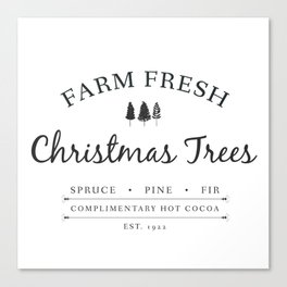 Christmas Tree Farm Art Print Gift Canvas Print