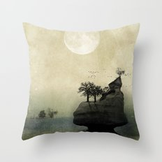Far Away Fantasy Landscape Throw Pillow