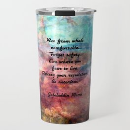 Challenging Fear Rumi Uplifting Quote With Beautiful Underwater Painting Travel Mug