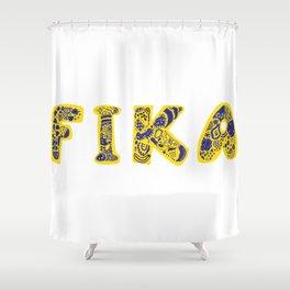 Fika- Folk style Shower Curtain