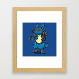 Pokémon - Number 448! Framed Art Print