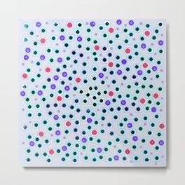 Dark Spots and Circles Metal Print