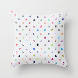 Everything and Everyone Throw Pillow