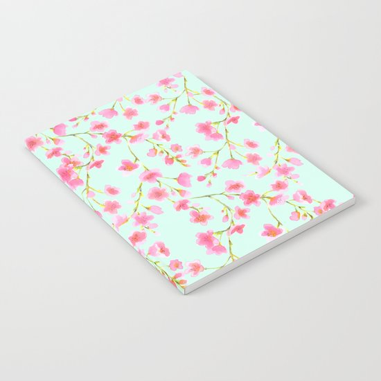 Cherry Blossom Pink Mint (for Mackenzie) Notebook