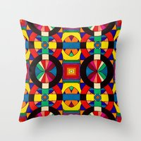 introvert Throw Pillows featuring Introvert/Extrovert by Art by Andrew Smith