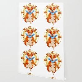 Zen corgi Wallpaper