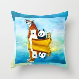 Herbert at Sea Throw Pillow