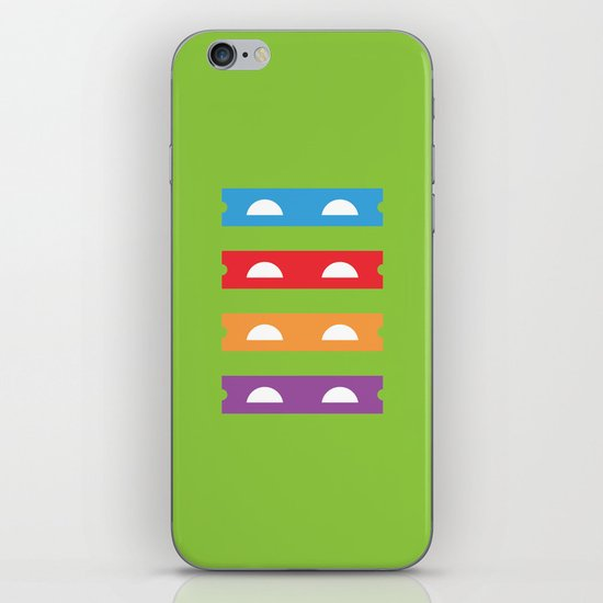 Teenage Minimal Ninja Turtles iPhone Skin
