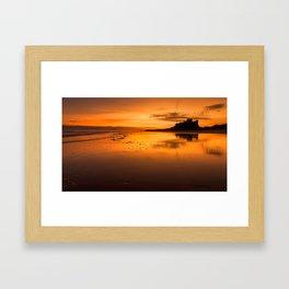 Sunrise at Bamburgh Beach Framed Art Print