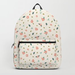 Pencil floral – cream Backpack