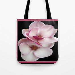 tulip magnolia twins (black bg) Tote Bag