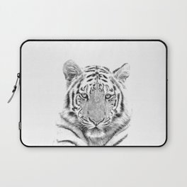 Black and white tiger Laptop Sleeve