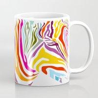 zebra Mugs featuring Zebra by graphicinvasion