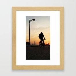 Ride into the Sunset Framed Art Print