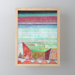 Paul Klee View into the Fertile Country Framed Mini Art Print