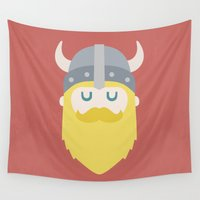 viking Wall Tapestries featuring Viking by Beardy Graphics