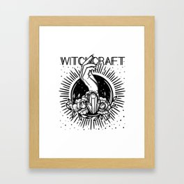 witchcraft. hand and magic crystal Framed Art Print
