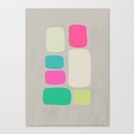 colour + pattern 2 Canvas Print
