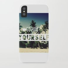 Go find yourself iPhone X Slim Case
