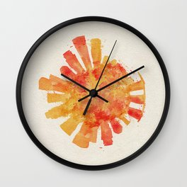 Singapore Colorful Skyround / Skyline Watercolor Painting Wall Clock