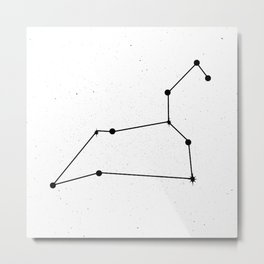 LEO (WHITE & BLACK) Metal Print