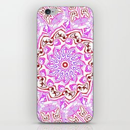 Pink Kaleidoscope iPhone Skin