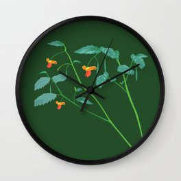 Jewel weed - illustration Wall Clock