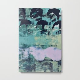 012.2: a bright contemporary abstract piece in teal and lavender by Alyssa Hamilton Art  Metal Print