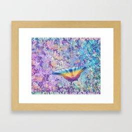 Vibrant Little Butterfly Framed Art Print