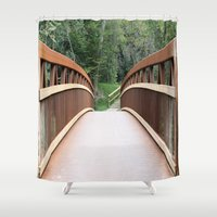 bridge Shower Curtains featuring Bridge by Rose&BumbleBee