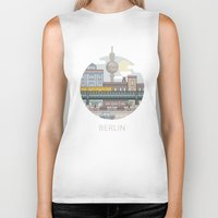 berlin Biker Tanks featuring Berlin by fabric8
