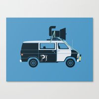 blues brothers Canvas Prints featuring The Blues Brothers' Van by Brandon Ortwein