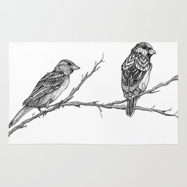 Two Sparrows by Sketchy Reputation Rug