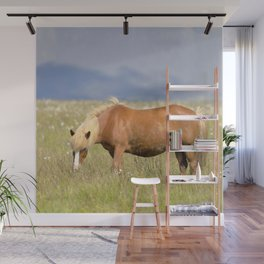 Watercolor Horse 14, Icelandic Pony, Höfn, Iceland, Blonds Eat More Grass Wall Mural