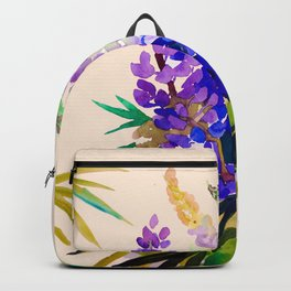 Lupine flowers Backpack
