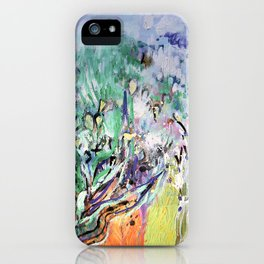 Expressionist, lavande garden painting, multicolor, abstract, surrealist. iPhone Case