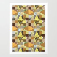 quilt Art Prints featuring quilt by notbook