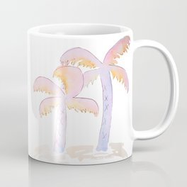 Pastel Palm Trees Coffee Mug