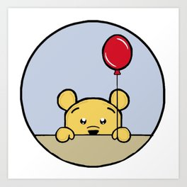 Bear And His Balloon Art Print