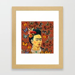 FRIDA bUTTERFLYS Framed Art Print