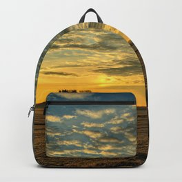 Winter Roads And Sunrises Backpack