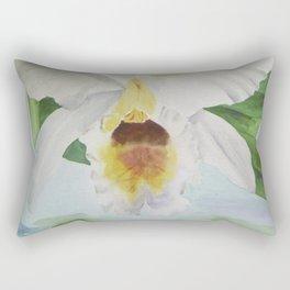 White orchid Cattleya Gaskelliana Rectangular Pillow