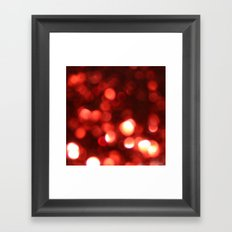 Red Blurred Lights Framed Art Print