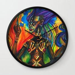 African Goddess Wall Clock
