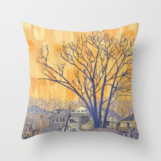 Silverbirch, north of Queen Throw Pillow