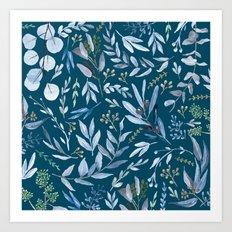 Eucalyptus Blue Art Print