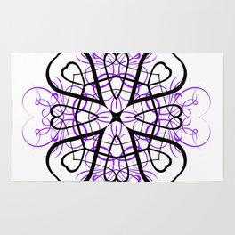 PURPLE SACRED GEOMETRY Rug