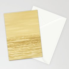 Seascape Gold Stationery Cards
