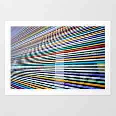 Colored Lines On The Wall Art Print